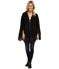 Scully Euphrates So Soft Poncho Black Women's Coat