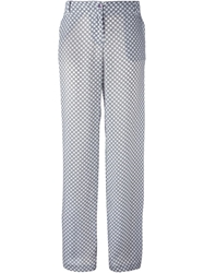 Armani Jeans Printed Wide Leg Trousers