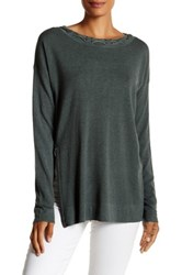 Cullen Double Knit Zip Sweater Green