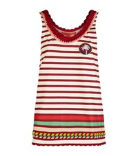 Tommy Hilfiger Striped Crochet Trim Tank Top Female Red