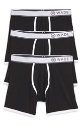 Naked Men's 'Wade' Stretch Cotton Boxer Briefs