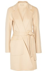 Michael Kors Wool Angora And Cashgora Blend Coat Orange