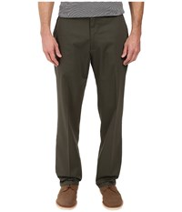 Dockers Signature Stretch Classic Flat Front Olive Grove Men's Casual Pants Brown