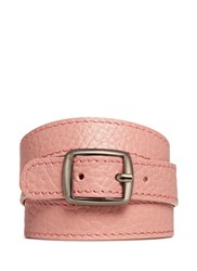 Bynd Artisan Triple Wrap Leather Bracelet Pink