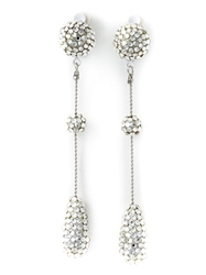Luxury Fashion Stud And Chain Earrings Metallic