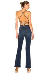Mother Tie Back Jumpsuit In Blue