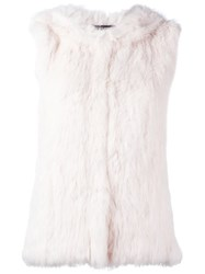 Yves Salomon Fur Vest Pink And Purple