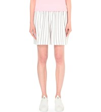 Chocoolate Random Print Jersey Shorts White