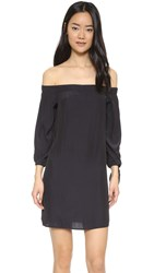 Ella Moss Bare Shoulder Dress Black