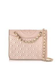 Tory Burch Fleming Quilted Leather Medium Bag Apricot