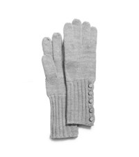 Michael Kors Button Up Gloves Pearl Grey