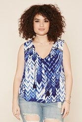 Forever 21 Plus Size Chevron Print Top