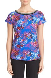 Etro Women's Floral Print Stretch Cotton Tee