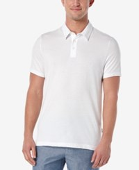 Perry Ellis Men's Dot Jacquard Polo Bright White