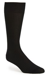 John W. Nordstromr Men's Big And Tall Nordstrom 'Try Angle' Textured Socks Black