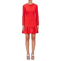 Lisa Perry Women's Ruffle Long Sleeve Dress Red