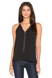 Eight Sixty Necklace Detail Tank Black