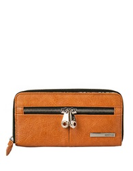 Kenneth Cole Reaction Wooster Street Pvc Zip Around Clutch Saddle