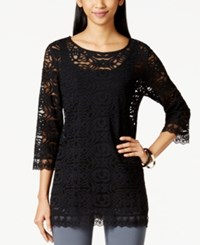 Alfani Crochet Lace Tunic Only At Macy's