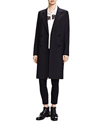 The Kooples Double Breasted Summer Coat Black