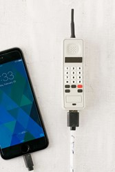 Urban Outfitters 90S Phone Portable Power Charger Grey