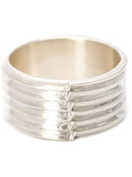 1 100 Sterling Silver '87' Ring Grey