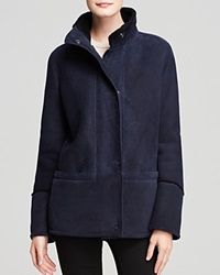 Maximilian Shearling Lamb Jacket With Stand Collar Bloomingdale's Exclusive Navy