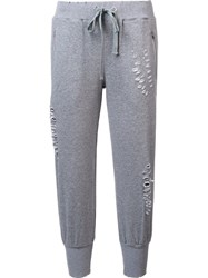Thomas Wylde 'Ripped' Track Pants Grey