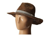 Roxy Cantina Straw Fedora Dark Brown Traditional Hats