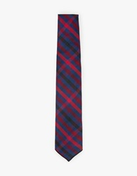 Engineered Garments Brushed Plaid Tie Navy Red