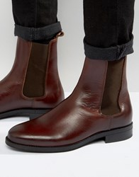 Zign Leather Chelsea Boots Red