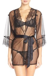 Women's L'agent By Agent Provocateur 'Grace' Short Lace And Tulle Robe