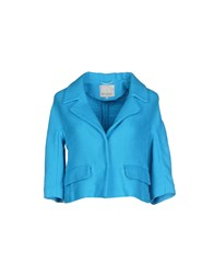 Henry Cotton's Suits And Jackets Blazers Women Azure