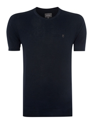 Peter Werth Spencer Plain Crew Neck Jumper Navy