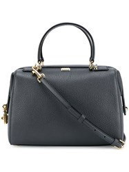 Dolce And Gabbana Padlock Detail Bowling Tote Grey