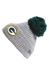 Men's New Era Cap 'Cuff Star Green Bay Packers' Pompom Knit Beanie