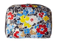 Lesportsac Luggage Xl Essential Cosmetic Ocean Blooms Navy Cosmetic Case Multi