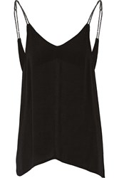 Maje Glittered Strech Jersey Top Black