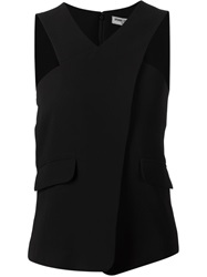 Opening Ceremony Crossed Front Sleeveless Top Black