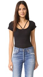 Lna Strappy Tee Bodysuit Black