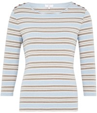 Cc Sloane Stripe Jersey Top Multi Coloured