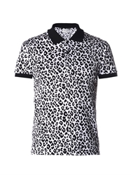 Saint Laurent Animal Print Polo Shirt