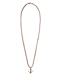Icon Brand Necklace With Anchor Pendant