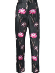 Rochas Cropped Floral Trousers Multicolour