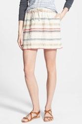 Hinge 'Alabama' Stripe Skirt Multi
