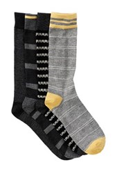 Lucky Brand Waves And Stripes Crew Socks Pack Of 4 Black