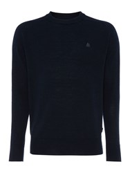 Army And Navy Hamilton Merino Crew Neck Jumper Navy