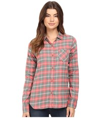 Burton Grace L S Woven Sashimi Haze Plaid Women's Long Sleeve Button Up Multi