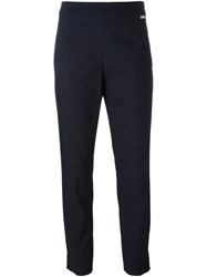 Tory Burch Straight Trousers Blue