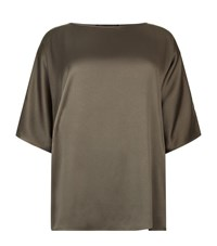 Marina Rinaldi Oversized Batwing Tunic Female Brown